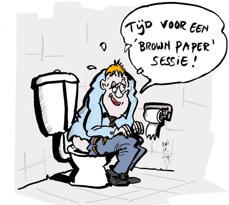Brown paper sessie (Kleur)